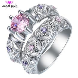 Wholesale Zirconia Couple Rings - Hot sale Fashion Luxury Women Engagement Jewelry 925 sterling Silver 5A ZC Crystal Zircon Female Wedding Finger Flower Rings