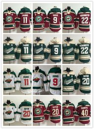 Wholesale Cheap Sweatshirts Free Shipping - 2017 Minnesota Wild hoodies DUBNYK #40 SUTER #20 PARISE #11 hoody Sweatshirts NIEDERREITER #22 GRANLUND #64 cheap hockey jerseys free ship
