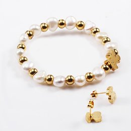 Wholesale Mixed Gold Earring - TL Stainless Steel Stone Beads Bear Jewelry Set Original Design Traditional Style Manual Cute Gift Fashion