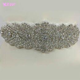 Wholesale Crystal Beaded Bridal Belts - Exquisite Rhinestones Wedding Sashes Handmade Beading Belts Bridal Accessories Custom Made Women Crystals Beaded Satin Belt