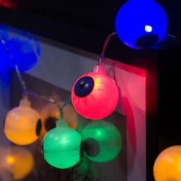 20 Leds Eyeball Strings Horrible Soirée à Thème Halloween 3.15M Gauche Light String Terror Eyeball Strand Lampe De Poche Festival De Noël ? partir de fabricateur