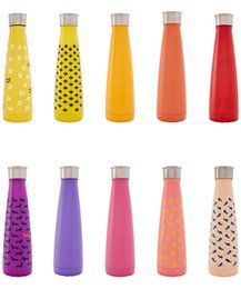 Wholesale Cola Candy - 50pcs new sip cola water bottle Slapshot candy canes style Vacuum Insulated Stainless Steel Water flask