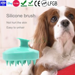 Wholesale Dog Massager - Pet Hair Grooming Brush Massage Cleaning Brush Shower Massager Silicone Dog Brush for pets,cats,dogs