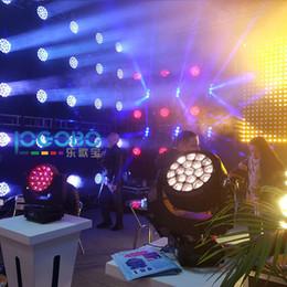 2019 cabeça movendo eua luz Atacado 4 Conjuntos de Zoom Big Bee Olho Moving Head 19x15 w RGBW 4em1 DMX Led Discoteca Discoteca Discoteca Bar Show de Estúdio Profissional de TV