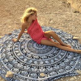 toalhas de papel comprimido Desconto 150 cm Rodada Durável Chiffon Praia Cover Up Rodada Toalha De Banho De Chuveiro Cobertor De Pano De Mesa-Ups Camping mesa pad tapete de yoga