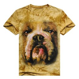 Wholesale Cheap Wash Clothes - Men 3D T Shirt Animal Short Sleeves Cheap Cotton O-Neck Tiedye Personalized T-Shirt Water Printed Tee Tops Shirts T-Shirts Clothes A8