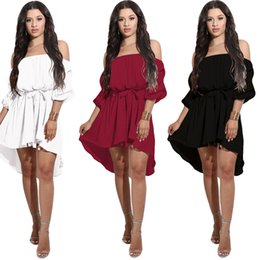 Wholesale Empire Waist Puff - New Elegant Bandage Dresses for Ladies Off Shoulder Backless Sexy Summer Party Club Dresses Evening Midi Dress High Waist Casual Dress