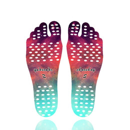 Wholesale Barefoot Soles - Mandala Beach Feet Sticker Invisible Anti Slip Insoles Protection Barefoot Sandy Starry Emoji Nakefit Foot Shoes Soles Stick on Pads Socks