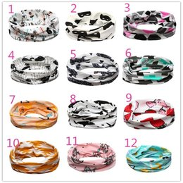 Wholesale Geometric Style Scarves - 17 Styles Fashion Baby Children Scarf Winter Boys Girls INS O Ring Neckerchief Panda Raccoons Geometric Muffler Scarves Kids Accessories