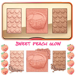 Wholesale Cosmetic Whitening Kit - Sweet Peach Glow Palette Bronzing Powder Highlighter Makeup Glow Kit Sweets Cosmetics