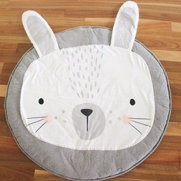 toy playmat Promo Codes - Baby Cotton Playmat Kids Toy Cartoon Lion Rabbit Animals Non-slip Bottom Portable Carry Playing Mats Room Decor Floor Mat 95cm