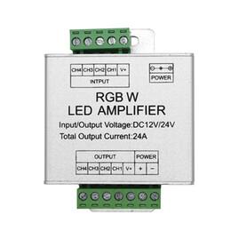 2019 controlador de salida Amplificador de LED RGBW / RGB DC12 - 24V 24A 4 canales Salida RGBW / RGB Controlador de consola de repetición de potencia de tira de LED controlador de salida baratos