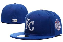 Wholesale Cheap New Fitted Caps - New Kansas City Royals gray color KC logo embriodery cheap sport baseball fitted hats retail and wholesale retail and wholesale