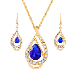 Wholesale China Wedding Party Suppliers - China alibaba supplier wholesale silver plated alloy lady crystals earring necklace fashion jewelry set for women