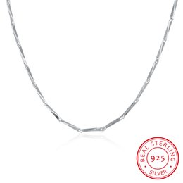Wholesale Sterling Silver Link Chains - 16 inch 18 inch 1MM 925 Real Sterling Silver Link Chains Necklace Fashion Jewelry for Women C010