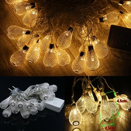 Wholesale Wholesale String Bulbs - US EU metal string light led bulbs 110v 220v golden drip lights 3w led strings for indoor decoration wedding christmas party holiday lights