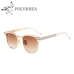 Wholesale Brand Polarized Women Sunglasses - Wholesale-2017 Fashion Oval Polarized Sunglasses Vintage Summer Sun Glasses Women Brand Designer Sunglasses Black Frame HD Lens UV400