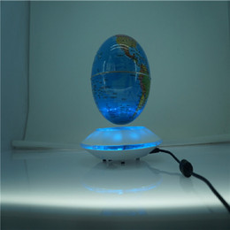 Wholesale Magnetic Globe Inch - Brand New UFO magnetic floating world globe 6 inch icreative magnetic levitation floating globe display with led lighting