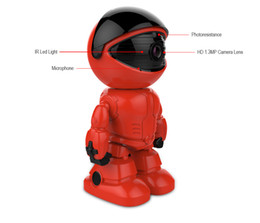 Wholesale Infrared Wireless Color Cmos Camera - HD Wireless IP Camera wi-fi Robot camera Wifi Night Vision Camera 960P 1.3MP CCTV support two-way audio Red Color