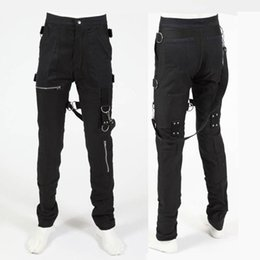 Wholesale Fly Commercial - Wholesale- Rare Classic MJ MICHAEL JACKSON PEP-SI COMMERCIAL BLACK PANTS TROUSERS