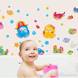 Wholesale Planes World - Wall Sticker Octopus Under Water World Decal Kid Room Non Toxic Wallpaper Cartoon Stickers Home Decor Stylish 3sj F R
