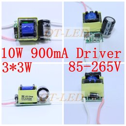 Wholesale 3x3w Led Chip - Wholesale-3X3W led driver 3*3W driver for 10W led chip 900mA 6W 9Wdriver 85-265V input for E27 GU10 LED lamp high quality ,5pcs lot