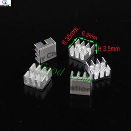 Wholesale Mini Heat Sinks - Wholesale- (100 pieces lot) Aluminum MOS Mini Small IC Chipset Cooling Cooler Heat Sink Heatsinks 6.35mm * 6.3mm * 3.5mm