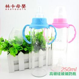 Wholesale Neck Glass Bottle - Wholesale-Bpa Free Crystal Diamond Glass Feeder  Baby Glass Feeding Bottle With Standard Neck