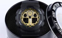 Wholesale Pulsera Reloj - with box ,Newest Latest model watch ga100 ga 100 watch, classic wristwatch relogio reloj de pulsera, LED WATCH