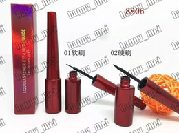Wholesale Wholesale Pencil Boxes - Factory Direct DHL Free Shipping New Makeup Eye Red Box M8806 Liquide Eyeliner!6ml