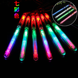 Wholesale toy colorful led light sticks - Flash Stick Tuba Transparent Colorful Acrylic Vocal Concert Luminescence Lighting LED Light Sticks Lamp Toys High Quality 1 15xr C