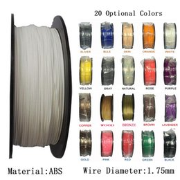 Wholesale Materials For Drawing - 3D Printer Filament ABS 1.75mm Material 1KG Plastic Rubber Consumables Material for 3D Drawing Printer Pen Rubber Consumables Material