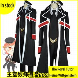 Wholesale Carnival Uniforms Adults - The Royal Tutor Heine Wittgenstein Uniform Cosplay Costume Halloween Carnival Costumes For Adult Men Women Custom Made Anime Royal teacher