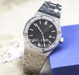 Wholesale Sapphire Royal - 5 Color Style Luxury AAA+ Quality Wristwatches Royal Oak 33mm Ladies Diamond 67651 67651ST.ZZ.1261ST.01 Quartz Battery Women's Watch Watches