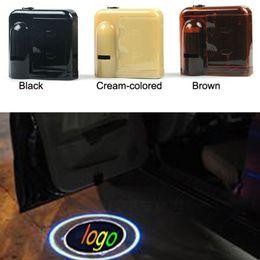 Wholesale Honda Shadows - 1 Pair For Honda Wireless Led Car door Logo Light LED Welcome Ghost Shadow Light car styling