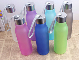 Wholesale Candy Drinks - Candy Color Dull Polish conveniently Cup Plastic 600ml Portable Sports Water Bottles Kettle Gift cups 23*6.5cm