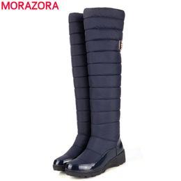 Chaussure bateau chaussure en Ligne-Gros-2016 nouvelle arrivée garder la neige chaude bottes de mode plate-forme de fourrure de la cuisse du genou bottes hautes bottes d'hiver chaud pour femmes chaussures bateaux