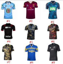 Wholesale Wholesale Sharks Jersey - 2017 Newest PARRAMATTA EELS Cronulla Sharks Nines Jersey HOME America BLK BLUE RWC NRL Super Rugby shirt S-3XL for sports toy