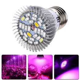 2019 12w ha portato a crescere la lampadina 28W E27 GU10 E14 Led Grow Bulb Light 28 LEDs SMD 5730 LED Grow Light Idroponica Impianto Full Spectrum AC 85-265V