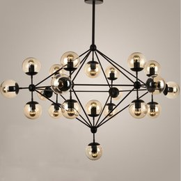Wholesale Industry Lighting - Vintage Glass Chandeliers Jason Miller MODO DNA Droplight (5 10 15 21-Heads) Dining Room Pendant Lamp Industry Lighting Fixture
