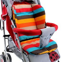 Wholesale Infant Prams - Baby Infant Stroller Seat Pushchair Cushion Cotton Mat Rainbow Color Soft Thick Pram Cushion Chair BB Car Seat Cushion
