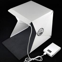 Wholesale Light Cubes Photography - Factory outlet! Foldable Mini Lightbox Portable Light Room Photo Studio Photography Backdrop Mini Cube Box Lighting Tent Kit
