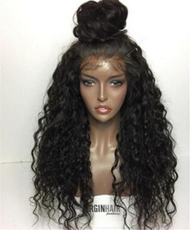 Wholesale Natural Black Loose Curly - best lace front human hair wigs for black women loose curly wave lace frontal wig cheap glueless full lace human hair wigs