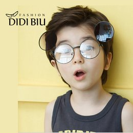 Wholesale Blue Prescription Glasses - DIDI 2017 Hippie Kids Clip On Sunglasses For Prescription Glasses Baby Girls Boys Fit Over Eyewear Small Round Punk Star Lunette Enfant C668