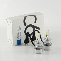 Wholesale H1 Cob Led - 2pcs 36W 3600LM COB H8 H9 led headlights H7 9005 9006 H11 H10 H1 H3 880 LED headlight bulbs headlamp LED Car headlight
