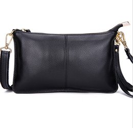 Wholesale First Slot - Wholesale-new Women's genuine leather bag first layer of leather clutch evening bag women messenger bag casual women handbags dh160