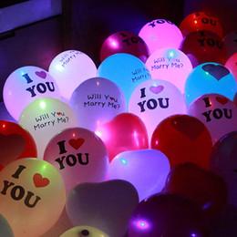 Wholesale Pink Led Light Balloons - 5pcs lot LED Luminous Balloon Flashing Light Latex Balloons Valentine'S Day Party Proposal Wedding Light Decoration Dropshipping