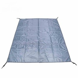Wholesale Inflatable Tent Clear - Wholesale- Folding Camping Moistureproof Mat 3-4 People Ultralight Dampproof Mats Tent Moisture-Froof Pads Outdoor Picnic Travel Gray