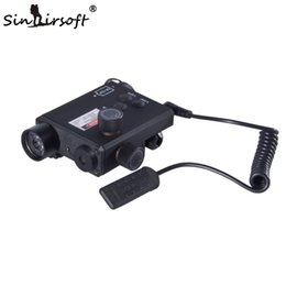Wholesale Green Laser W Flashlight - Sinairsoft Tactics Hunting Green and red Laser Flashlight Unmark Sightmark LoPro w 220 Lumens Combo Pressure Pad Switch Mouse Tail SM25004