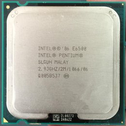 Wholesale cpu used - Original used cpu Intel Pentium Dual-Core E6500 CPU E6500K Processor 2.933Ghz 2M 1066GHz Socket 775 pin (working 100% Free Shipping)